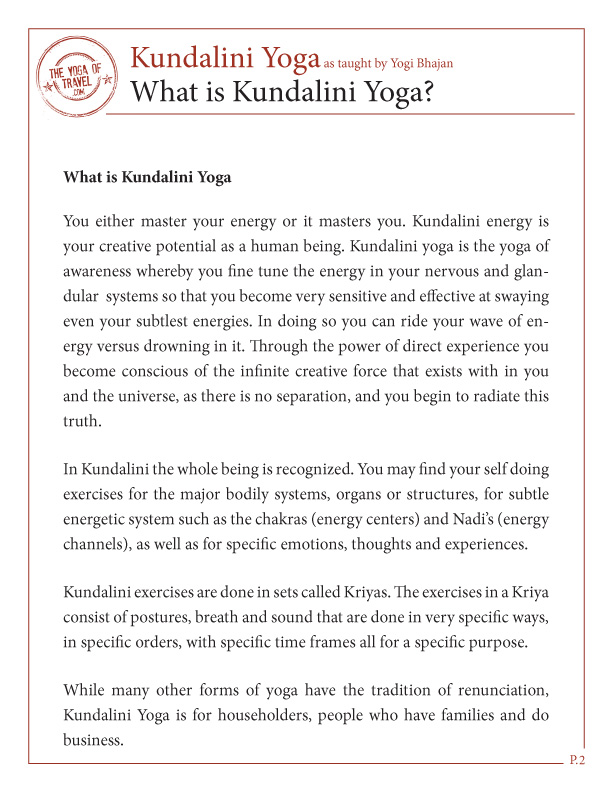 Free Yoga Poses and Meditations What is Kundalini Yoga? For ...